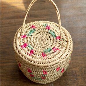 Handbags - Vintage bamboo wicker 60s purse Birkin bag